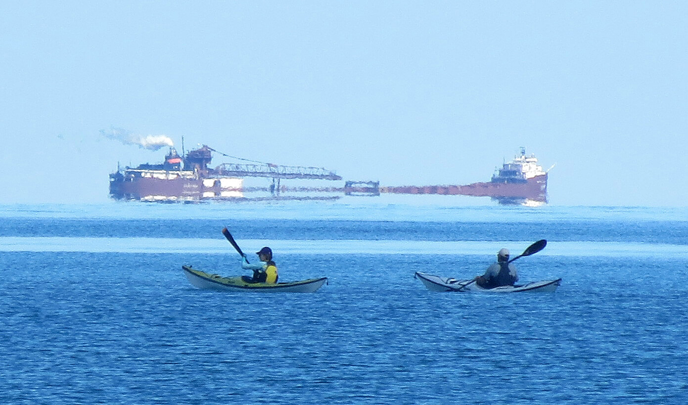 Freighter Kayaks Good Harbor Bay